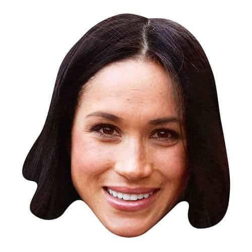 Meghan Markle Sonriente Máscara De Cartón