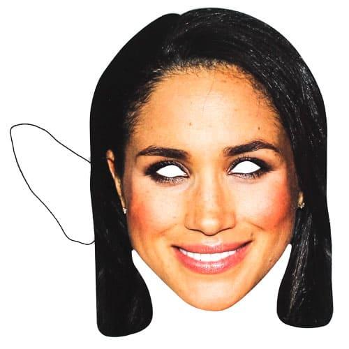 Máscara De Cartón De Meghan Markle