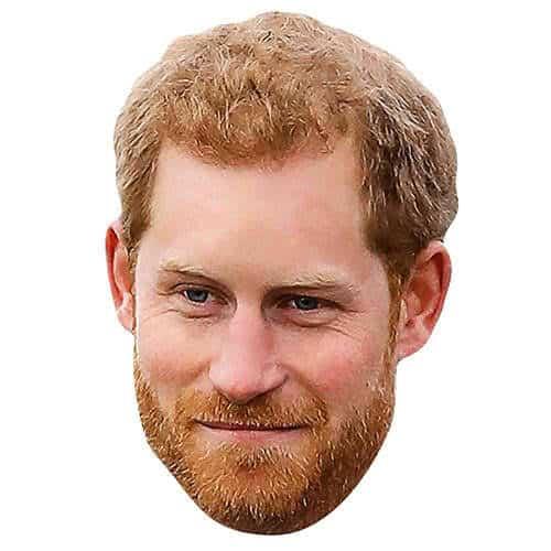 Príncipe Harry Con Barba Mascarilla De Cartón