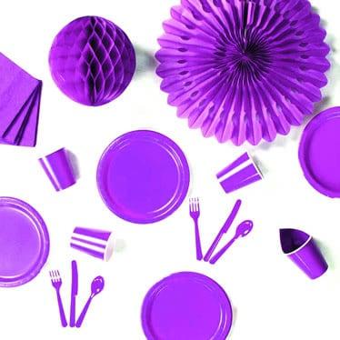 Fuentes púrpuras del partido