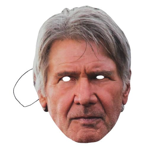 Star Wars Han Solo Harrison Ford Cartulina Mascarilla