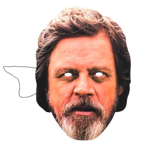 Star Wars El Último Jedi Luke Skywalker Marca Hamill Cartulina Máscara