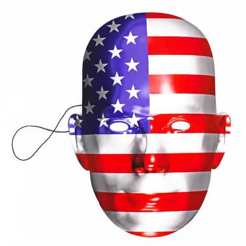 Bandera De Estados Unidos Cartulina Máscara