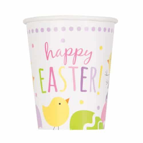 Lindos Vasos De Papel De Pascua 270Ml - Paquete De 8