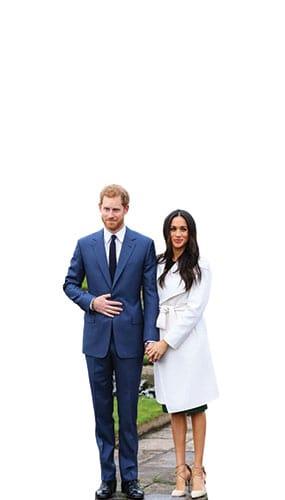 Príncipe Harry Y Meghan Markle Estrella Mini Cartón Recorte 91Cm