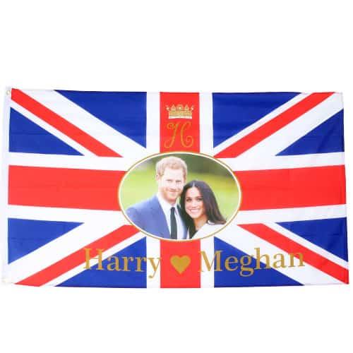 Real Príncipe De La Boda Harry Y Meghan Markle Bandera - 5 X 3 Pies