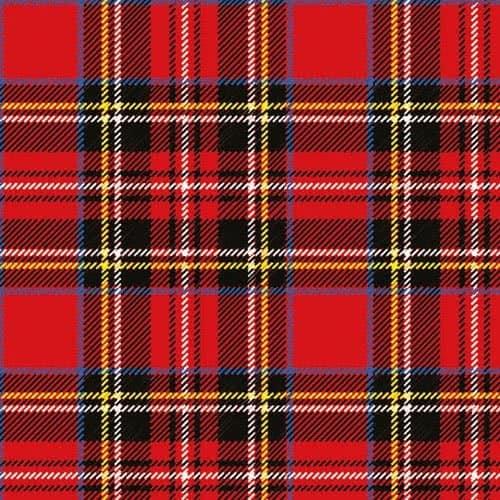 Servilletas De Almuerzo De Tartán Rojo Escocés 3Ply 33Cm - Paquete De 20