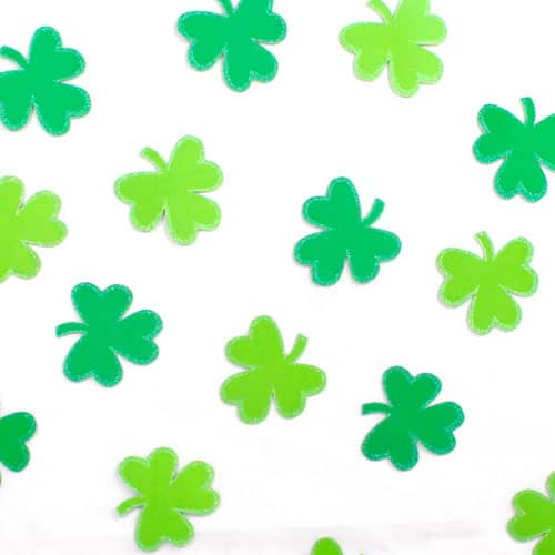 Recortes De Confeti De Purpurina Trébol St Patricks Day - Paquete De 25