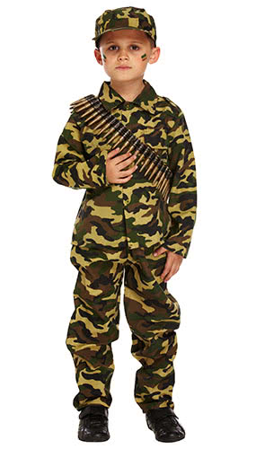 Niño De Ejército Traje De Disfraces 10-12 Años - Grande