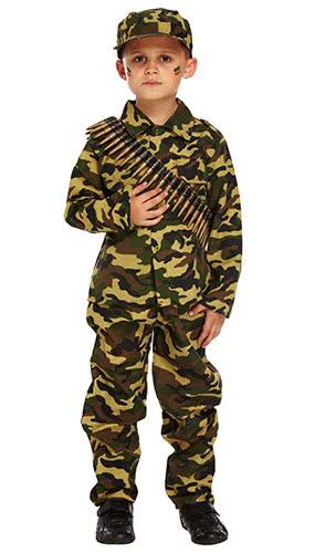 Niño Disfraz De Niño De Ejército Disfraz 4-6 Años - Pequeño