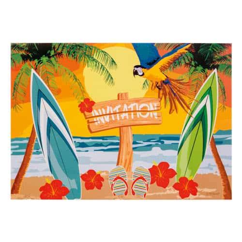 Invitaciones De Fiesta En La Playa - Paquete De 6
