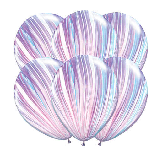 Globos De Látex Qualatex Superagate Fashion De 28 Cm / 11 Pulgadas - Paquete De 10