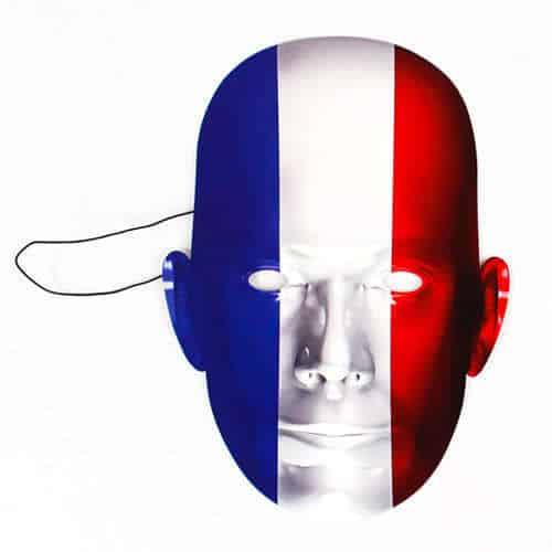 Máscara De La Bandera De Francia