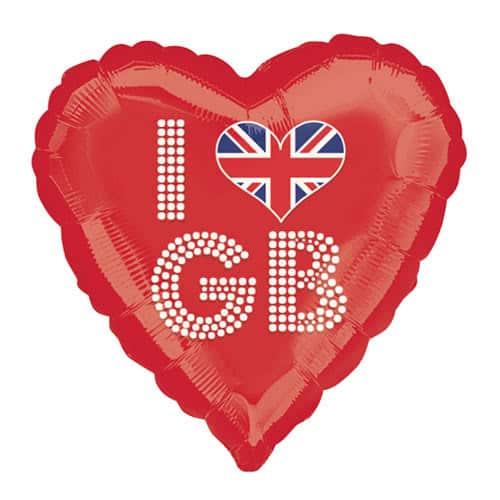 Gran Bretaña Me Encanta Gb Globo De Helio Rojo 45Cm / 18Inch