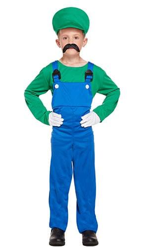 Disfraz De Superman Verde Trabajadora Niños Disfraz 7-9 Años - Medio
