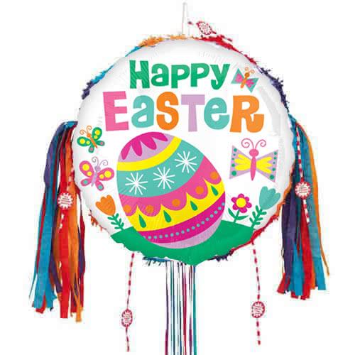 Feliz Pascua Huevo Grande Llanta Cadena Piñata
