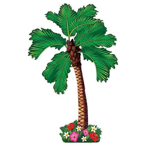 Hawaiano Recorte De Palmera Articulado 162Cm
