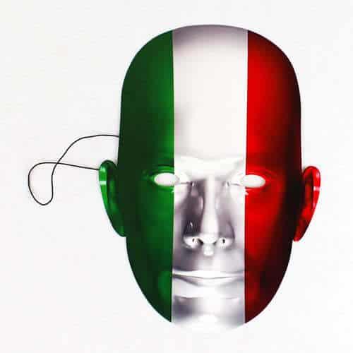 Máscara De La Bandera De Italia