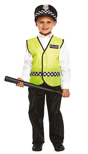 Disfraz De Disfraz De Niño De Policía 7-9 Años - Medio