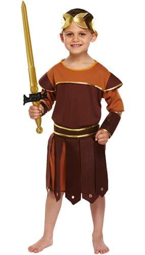 Disfraz De Disfraz De Niños Romanos Soldado 7-9 Años - Medio