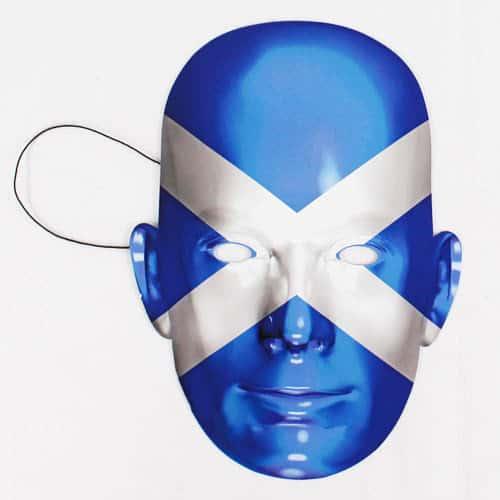 Máscara De La Bandera De Escocia