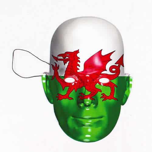Bandera De Gales Máscara De La Cara