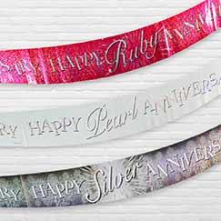 Banners de la fiesta de aniversario