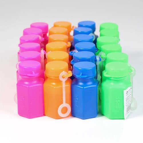 Una Variedad De Tubos De Burbujas Mágicas Con Varitas - Paquete De 24