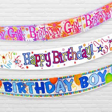 Banners de Mensaje de Cumpleaños