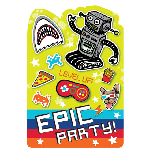 Invitaciones De Fiesta Épicas Con Sobres - Paquete De 8