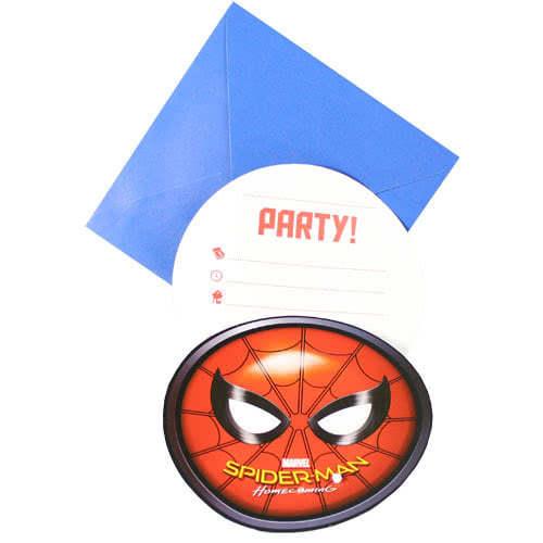 Invitaciones Spider-Man Con Sobres - Paquete De 6