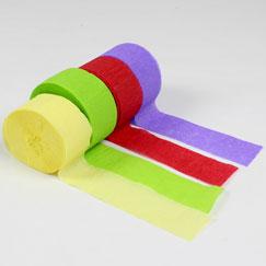 Serpentinas de fiesta de papel crepé
