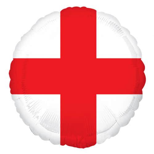 St George'S Day Inglaterra Bandera Redonda Papel De Helio Globo 43Cm / 17 Pulgadas