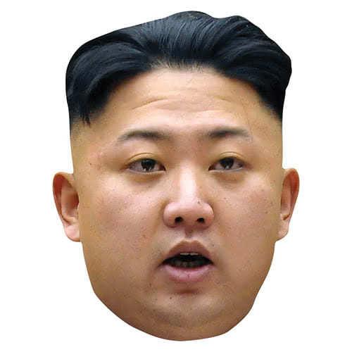 Máscara Facial De Cartón Kim Jong-Un