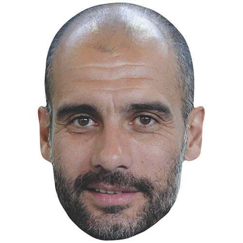 Pep Guardiola Manchester City Manager Cartulina Máscara De La Cara