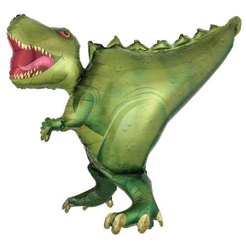 Globo Rojo Dinosaurio XL Supershape Chicos Selva Jurassic Auto Inflar Fiesta Temática