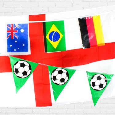 Banderas de la Copa del Mundo y empavesado