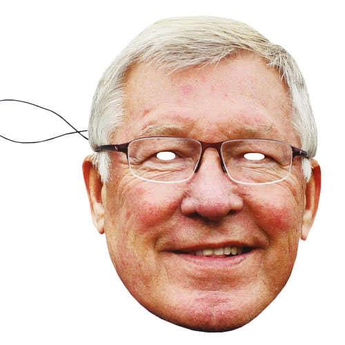 Máscara De Cartulina Alex Ferguson