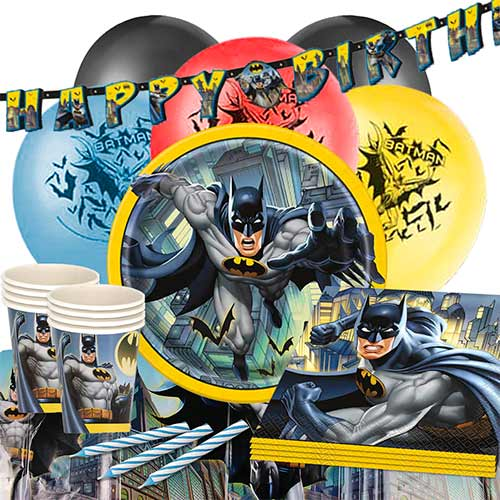 Paquete De Fiesta De Lujo De Batman Para 16 Personas.