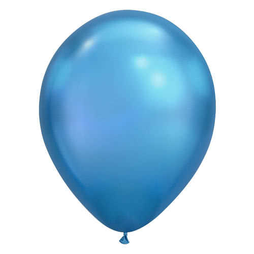 Globo De Helio De Látex Azul Cromo 28Cm / 11 Pulgadas