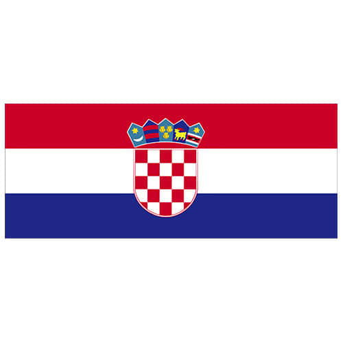Bandera De Croacia Fiesta De Pvc Signo Decoración 60Cm X 24Cm