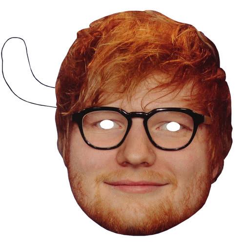 Ed Sheeran Mascarilla De Cartón