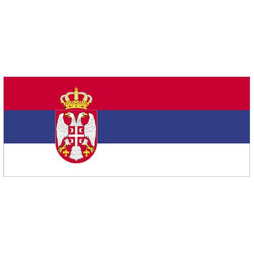 Serbia Bandera PVC Fiesta Signo Decoración 60cm x 24cm