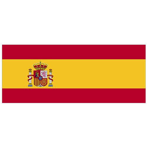 Bandera De España Fiesta De Pvc Signo Decoración 60 Cm X 24 Cm