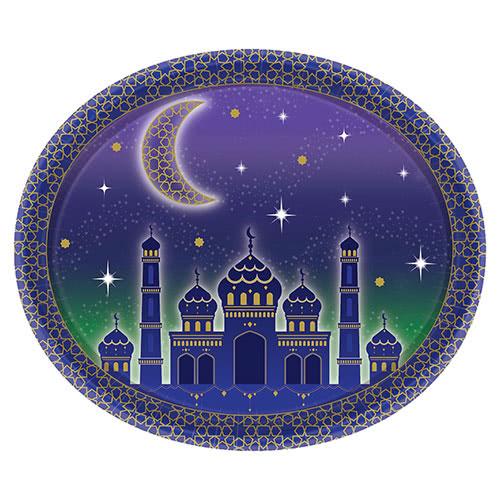Eid Oval Que Sirve El Plato De Papel Los 30Cm
