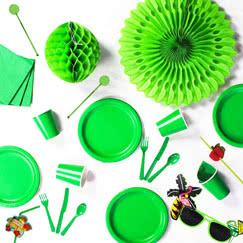 Suministros de fiesta verde