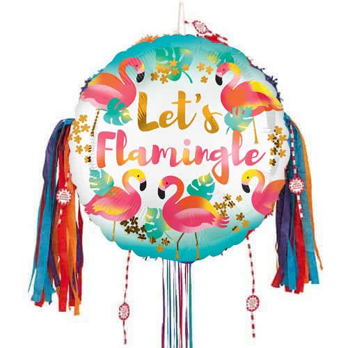 Deja Que Flamingle Tire De La Cadena De Piñata