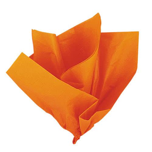 Papel De Regalo De Papel Naranja - Paquete De 10