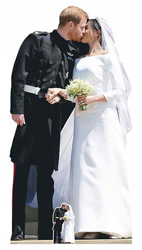 Príncipe Harry Y Meghan Pareja De Novios Real Primer Beso Recorte De Cartón De Tamaño Natural 184Cm
