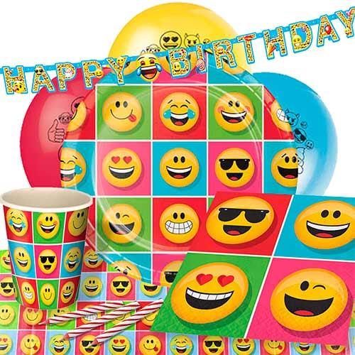 Paquete De Fiesta De Lujo Emoji 8 Personas